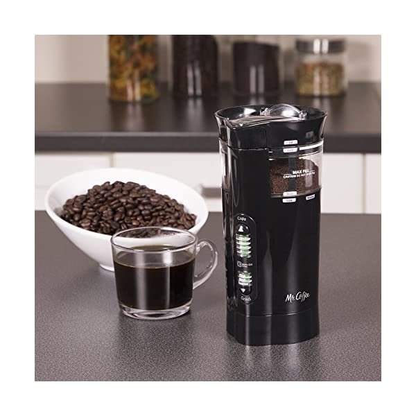 Mr. Coffee 12 Cup Electric Coffee Grinder with Multi Settings, IDS77-RB