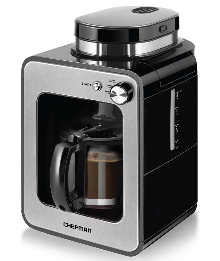 Chefman Grind and Brew 4 Cup Coffee Maker and Grinder