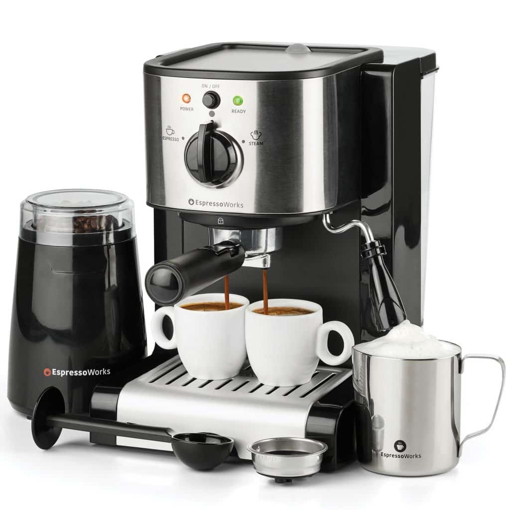 EspressoWorks All-In-One Espresso Machine & Cappuccino Maker