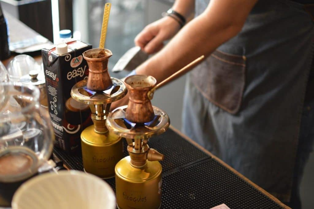 turkish coffee brewing