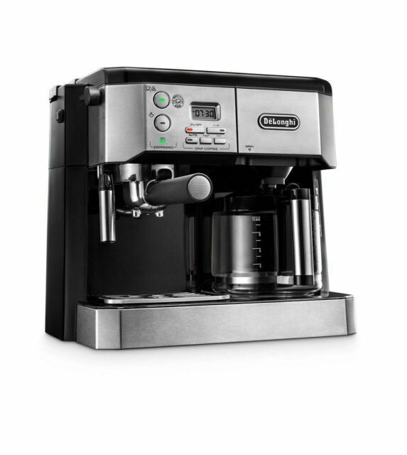 DeLonghi BCO430 Combination Pump Espresso and 10-Cup Drip Coffee Machine with Frothing Wand