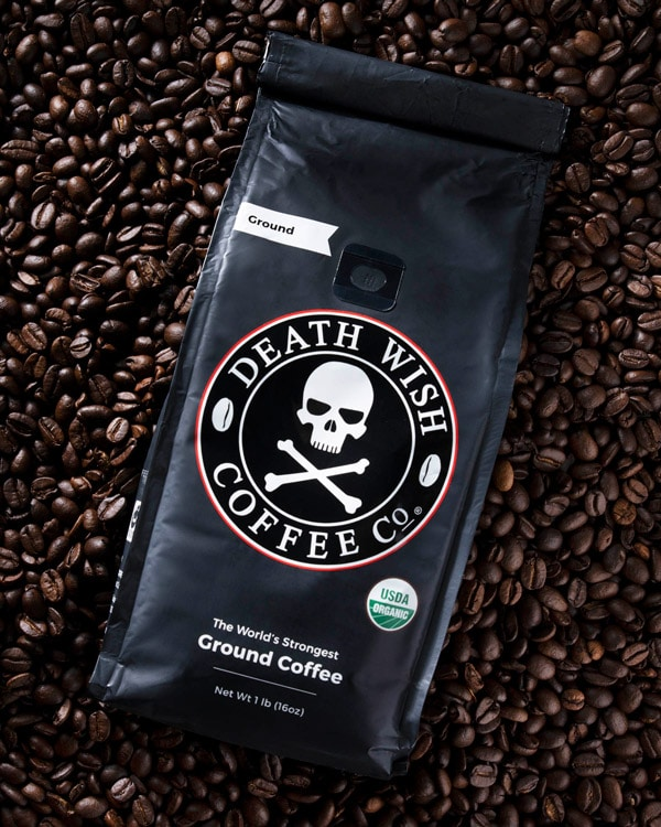 Death Wish Coffee Dark Roast Coffee Grounds