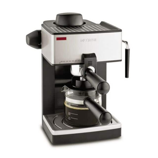 Mr. Coffee 4-Cup Steam Espresso Machine with Milk Frother